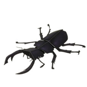 Papercraft del Escarabajo Gigante Infantil. Manualidades a Raudales.