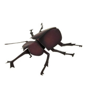 Papercraft del Escarabajo Rinoceronte Infantil. Manualidades a Raudales.