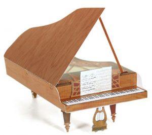 Papercraft de un Piano de cola. Manualidades a Raudales.