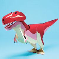 Papercraft del Tirannosaurus Rex con movimiento. Manualidades a Raudales.