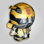 Papercraft imprimible y armable de Bumblebee. Manualidades a Raudales.