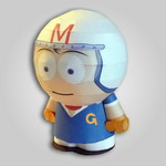 Papercraft de Speed Racer. Manualidades a Raudales.
