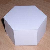 Papercraft de un prisma recto hexagonal. Manualidades a Raudales.