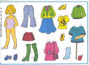 Paper dolls / Recortable muñeca 18. Manualidades a Raudales.