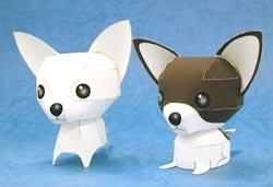 Papercraft de perros Chihuahuas. Manualidades a Raudales.