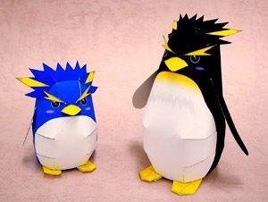 Papercraft de pingüinos infantiles. Manualidades a Raudales.