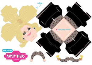 Cubeecraft Divas Adele. Manualidades a Raudales.