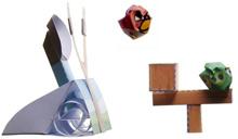 Papercraft imprimible y recortable del juego de los Angry Birds. Manualidades a Raudales.
