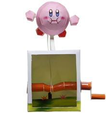 Papercraft imprimible y recortable de Kirby de Nintendo con Movimiento. Manualidades a Raudales.