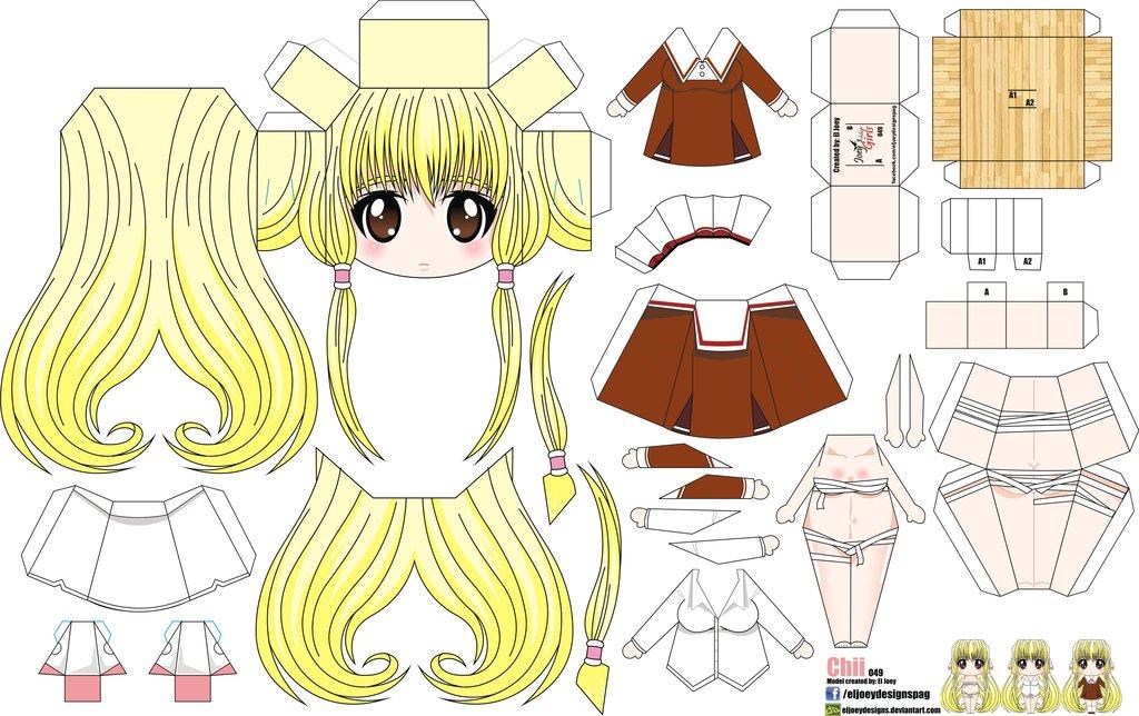 Картинки выкройка аниме кукол, открытки