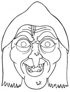 Máscara Halloween de una bruja 4. Manualidades a Raudales.