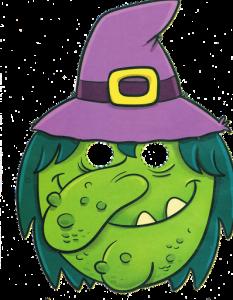 Máscara Halloween de una bruja 5. Manualidades a Raudales.