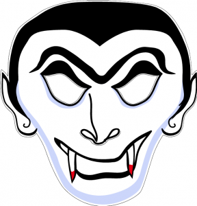 Máscara para Halloween de drácula 5. Manualidades a Raudales.
