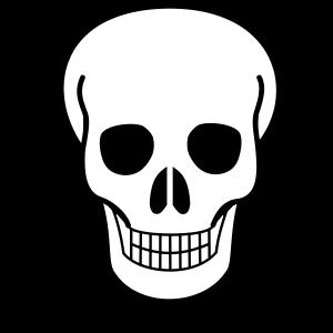 Máscara para Halloween de un esqueleto 3. Manualidades a Raudales.