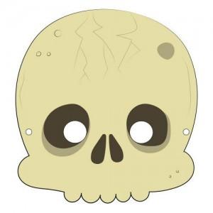 Máscara para Halloween de un esqueleto 4. Manualidades a Raudales.