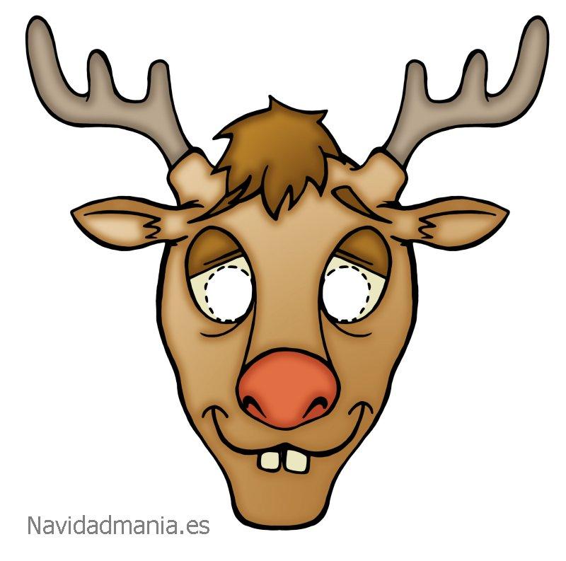 Mascara navidad 18 manualidades a raudales for Manualidades renos navidenos