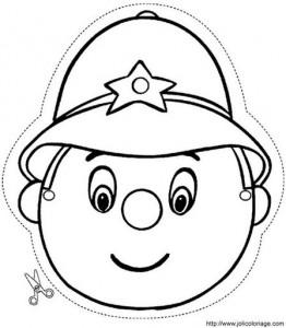 Máscara de un policía. Manualidades a Raudales.