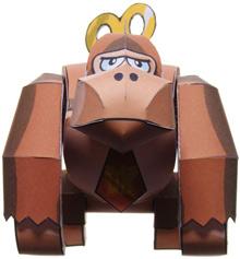 Papercraft de Donkey Kong de Nintendo. Manualidades a Raudales.