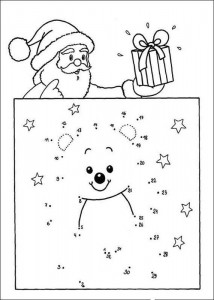 Une los puntos y las letras en Navidad. Manualidades a Raudales.