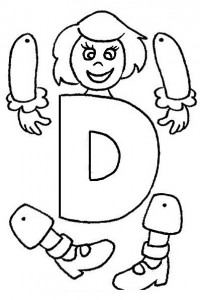 Simpáticas marioneta de letras. Manualidades a Raudales.