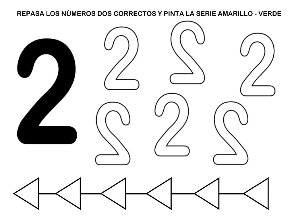 Grafomotricidad Número 2 07 Manualidades A Raudales