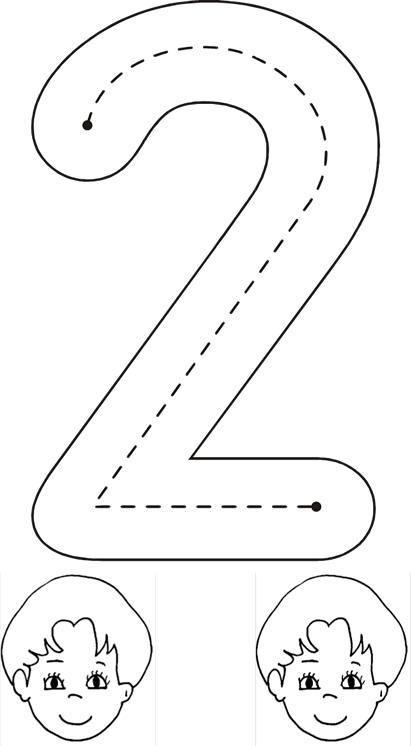 Grafomotricidad Número 2 26 Manualidades A Raudales