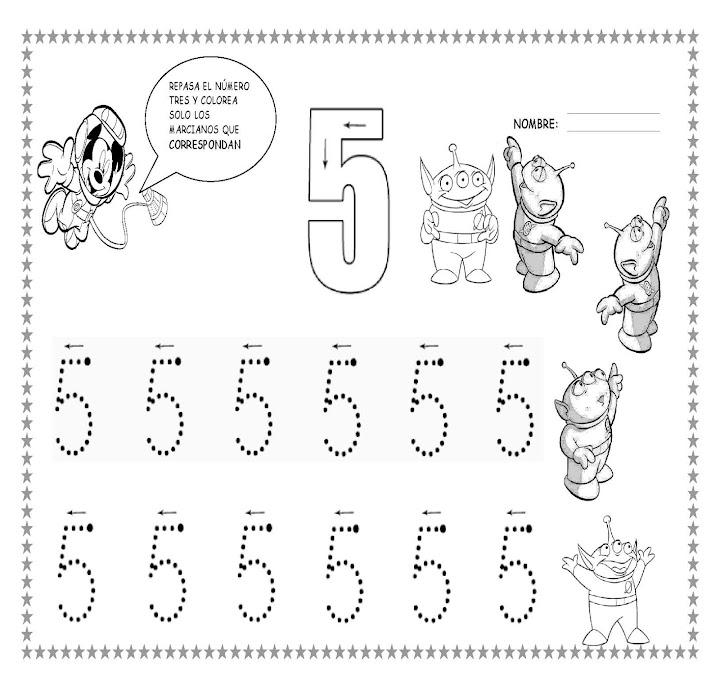 Grafomotricidad Numero 5 08 Manualidades A Raudales