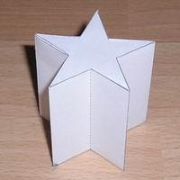 Papercraft prisma estrellado de 5 puntas. Manualidades a Raudales.