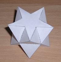 Papercraft antiprisma esterllado de 5 puntas. Manualidades a Raudales.