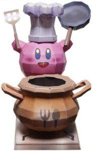 Papercraft de Kirby cocinero. Manualidades a Raudales.