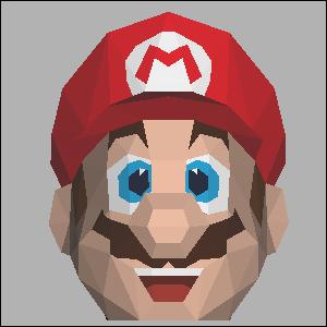 Papercraft imprimible y armable de la cabeza de Super Mario de Nintendo. Manualidades a Raudales.