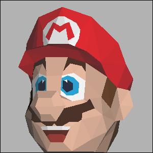 Papercraft de la cabeza de Super Mario de Nintendo. Manualidades a Raudales.