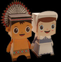 Papercraft de Thanksgiving. Manualidades a Raudales.