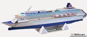 Papercraft imprimible y recortable del Crucero Asuka II. Manualidades a Raudales.