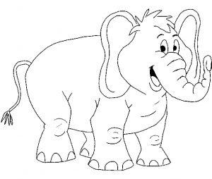 Fichas para colorear dibujos de elefantes. Manualidades a Raudales.