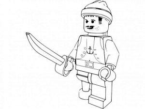 Fichas educativas para colorear dibujos de Lego. Manualidades a Raudales.