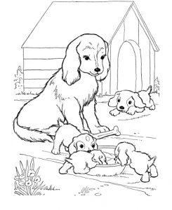 Fichas para colorear dibujos de perros. Manualidades a Raudales.