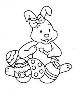 Fichas para colorear dibujos de conejos. Manualidades a Raudales.