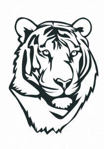 Fichas para colorear dibujos de tigres. Manualidades a Raudales.
