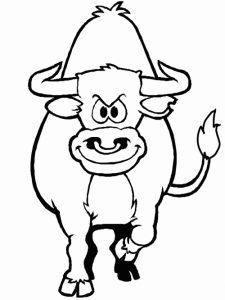 Fichas para colorear dibujos de toros. Manualidades a Raudales.