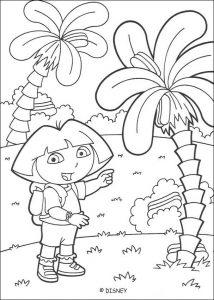 Dibujo para colorear de Dora la Exploradora. Manualidades a Raudales.