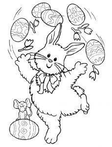 Ficha para colorear dibujos de la festividad de Pascua / easter. Manualidades a Raudales.