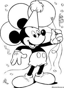 Ficha para imprimir y colorear dibujos de Mickey y sus amigo. Manualidades a Raudales.