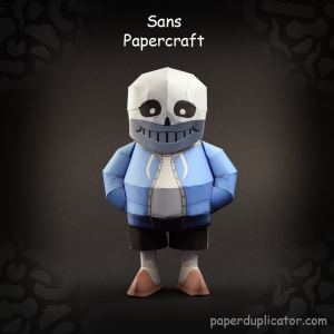 Papercraft del esqueleto Sans del juego Undertale. Manualidades a Raudales.