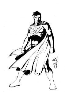 Fichas para colorear dibujos de Superman. Manualidades a Raudales.