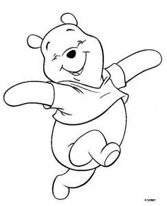 Fichas para colorear dibujos de Winnie The Pooh. Manualidades a Raudales.