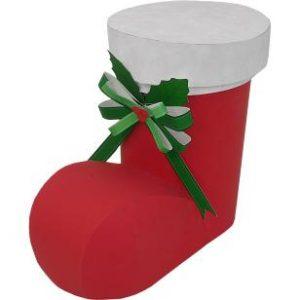 Papercraft recortable e imprimible de una Caja bota de navidad.  Manualidades a Raudales.