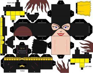 Cubeecraft de Batgirl. Manualidades a Raudales.