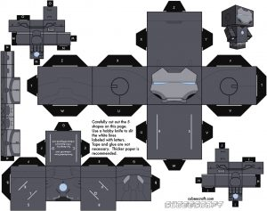 Cubeecraft de Iron Man. Manualidades a Raudales.