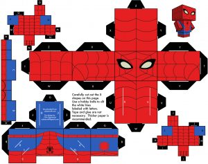 Cubeecraft de Spiderman. Manualidades a Raudales.